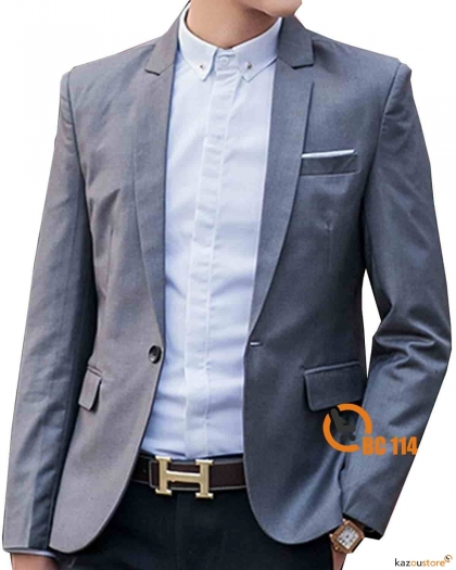 Blazer Pria Formal Stylish BC114 | Abu - Abu