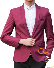 Blazer Pria Formal Stylish BC114 | Merah Maroon